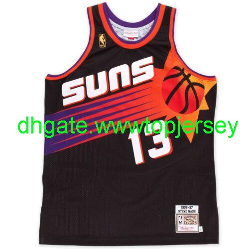 Pas cher Steve Nash # 13 Mitchell Ness 1996-1997 Classics Top Jersey Throwbacks Vest maillots de basket-ball Stitched