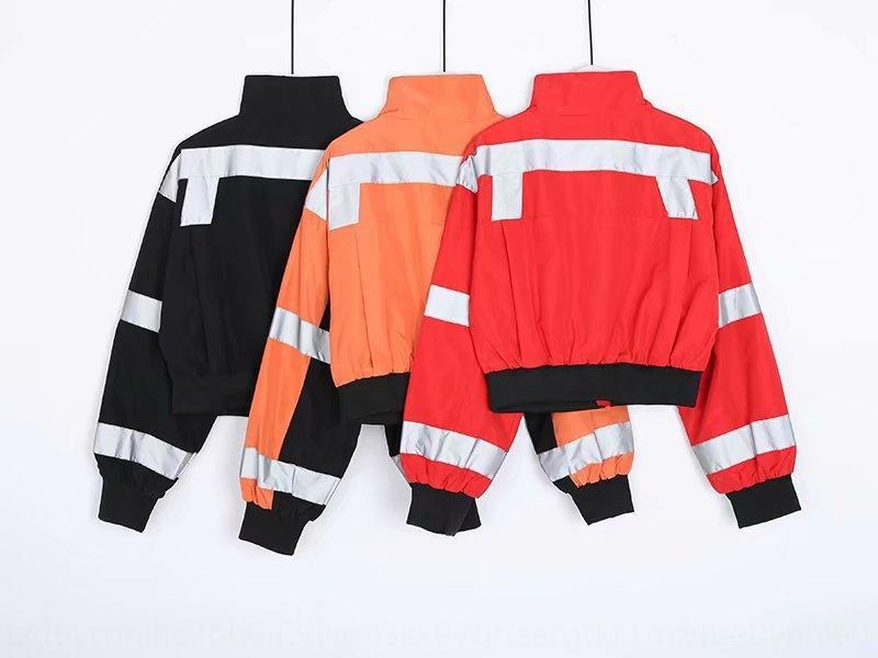 jMeNj Moda INS Yansıtıcı şerit Yapışkan kağıt ünlü sokak moda sticker yansıtıcı şerit gevşek fermuar ceket erkek arkadaşı st vurdu