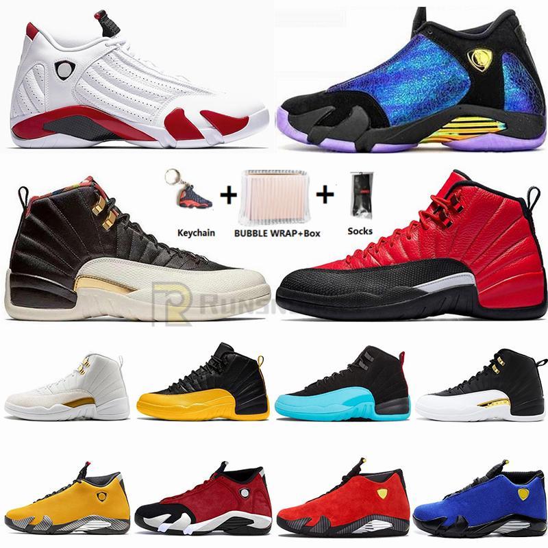 Trasporto veloce Jumpman 14 14s Chameleon Doernbecher Candy Cane Bred Mens scarpe da basket 12 12s Ali CNY maestro Sneakers Retroes Sport