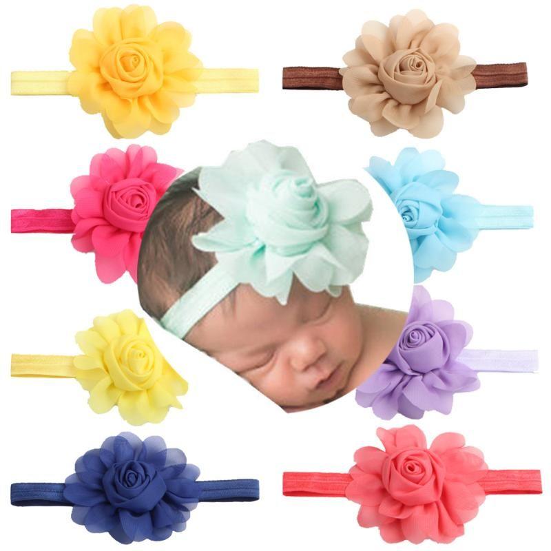 UK Seller Elastic Baby Headdress Kids Hair Band Girls Bow Newborn Hair Headband