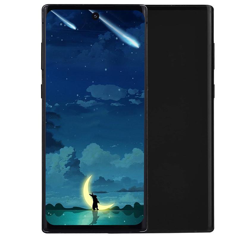 6.8 인치 펀치 구멍 IPS 전체 화면 Goophone N10 + 1기가바이트 8기가바이트 + 32기가바이트 3G WCDMA 쿼드 코어 안드로이드 9.0 얼굴 ID 지문 16.0MP 카메라 스마트 폰