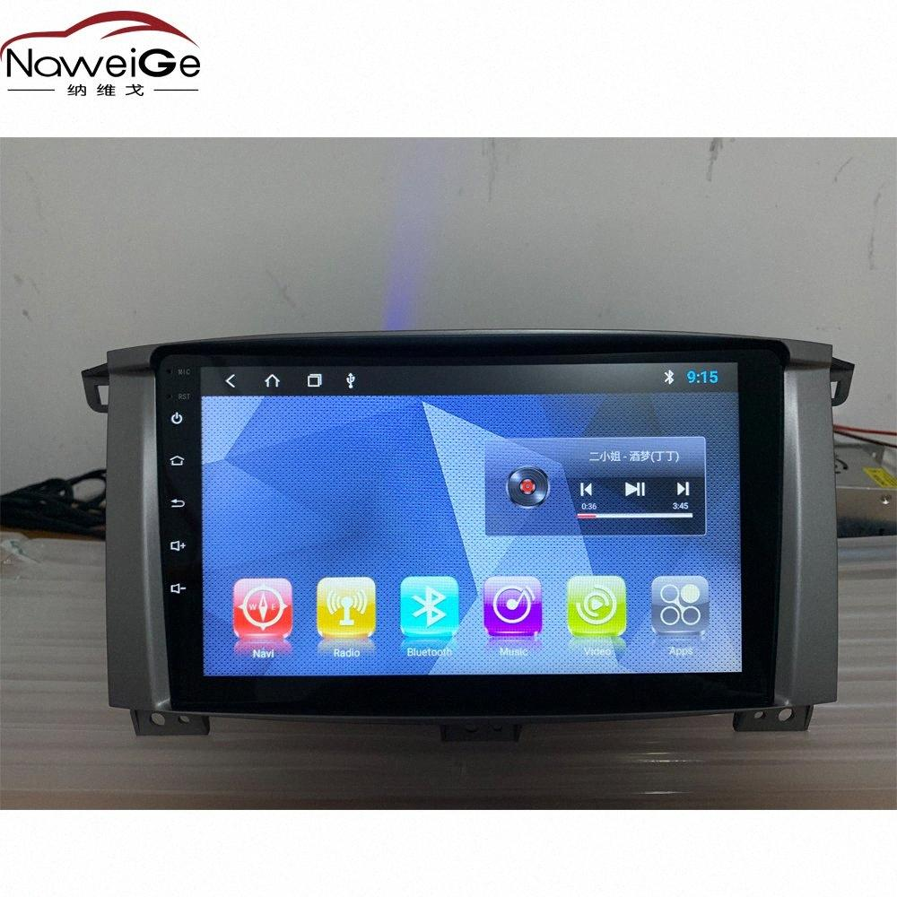 NaweiGe 9 Inch Android Octa Core 8.1 T8 2+32GB Car Dvd For Land Cruiser 100 Manual AC Car Stereo For LC100 Audio AHV8#
