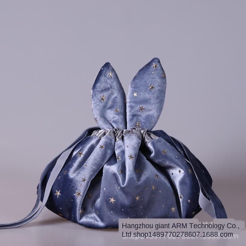 Coniglio di velluto pigro Internet Celebrity stoccaggio coulisse carry-on stile in con trousse mano regalo regalo trousse
