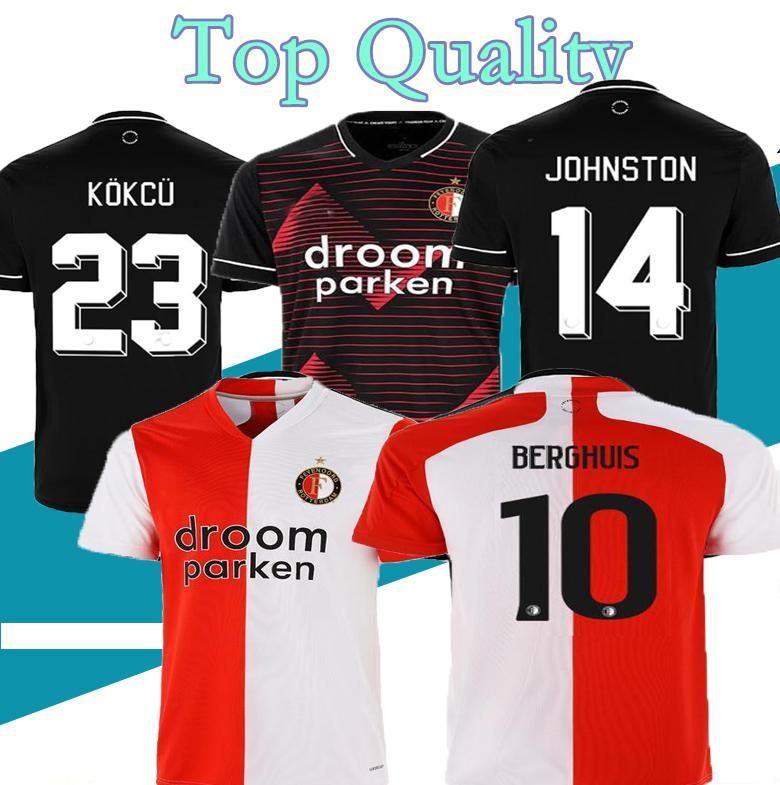 S-3XL TOP 20 21 Feyenoord camiseta de camiseta de fútbol Camiseta KOKCU Berghuis JORGENSEN 2020 2021 SENESI pies maillot uniforma Men + niños