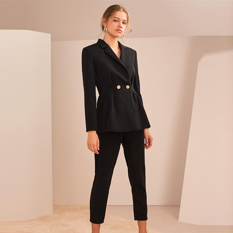 2021 Women Suits Office Sets Stylish Ladies Business Formal Work Wear Notched Blazer Jacket Trousers Spring Pants Suits From Songzhi 84 53 Dhgate Com