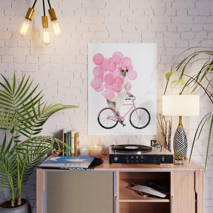 Balloon Pink Bicycle Dog Sir Gifts Modular Canvas Pictures Painting Home Decor Prints Poster Living Room Modern Frame Wall Art