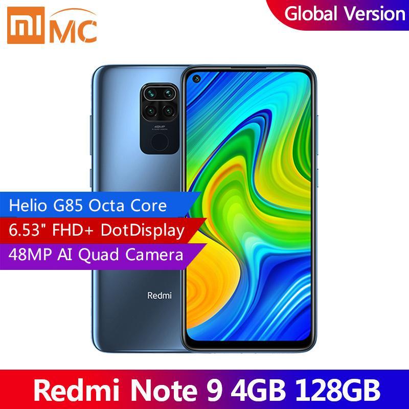 "(Presale) global Versão Xiaomi redmi Nota 9 4GB 128GB Smartphone Helio G85 Octa Núcleo 48MP Quad câmera traseira 6,53"" DotDisplay 5020mAh"