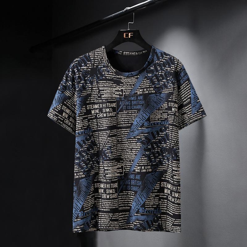 Más 10xl 9xl 8xl 7xl 6xl Camiseta de gran tamaño Camiseta de algodón Hip-Hop Tshirt O-cuello Verano Causal Causal Tshirts Moda Tees sueltos KG-186