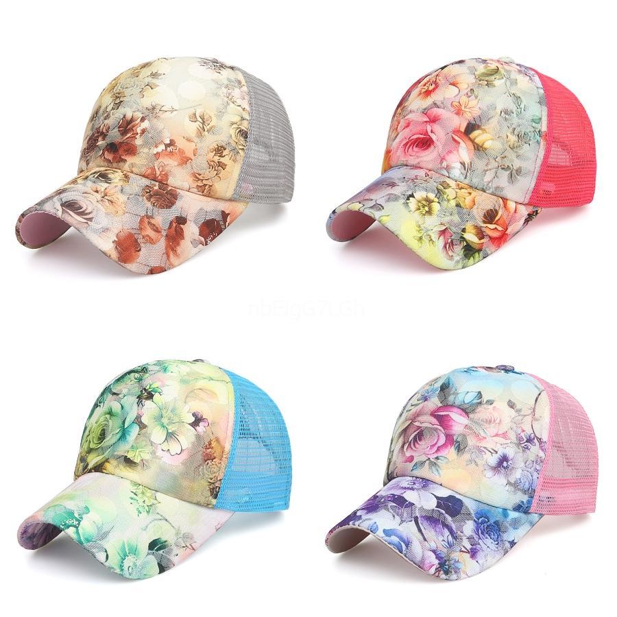 Mode d'été Mesh Ponytail Baseball Chapeau Tie Dye Snapback Caps pour l'extérieur Sport Hat IIA124 # 843