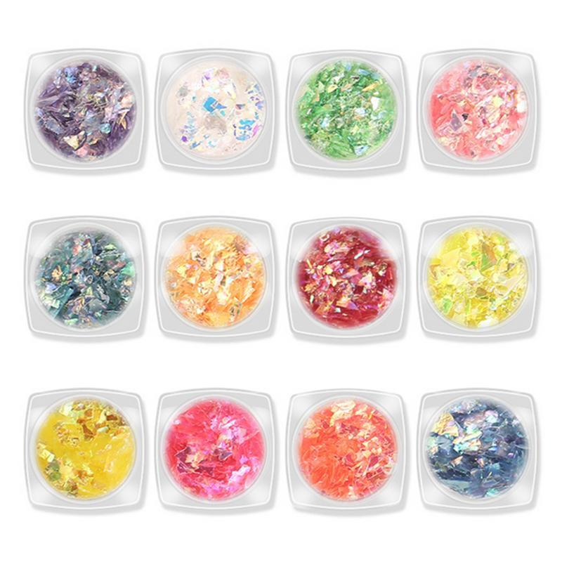 Design Mix 12 couleurs japonaise Paillettes nail art autocollants Autocollant JapanKorean Styles Style Candy Sticker Dacal gros