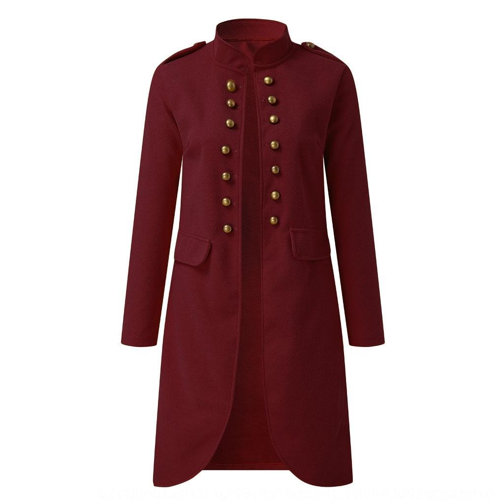 U6W7w 2020 осень и зима новых женщин с длинными рукавами шерстяной кардиган 2020 Осень и кнопка шерсти пальто шерсти зима новых женщин с длинными рукавами