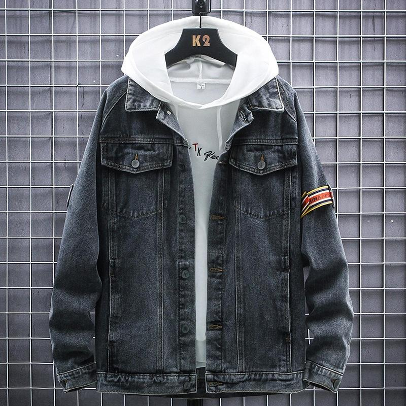 Moda ince renk birincil kot erkekler Koreli gençler ceket marka kot ceket erkek ısmarlama kAigO yıkanmış
