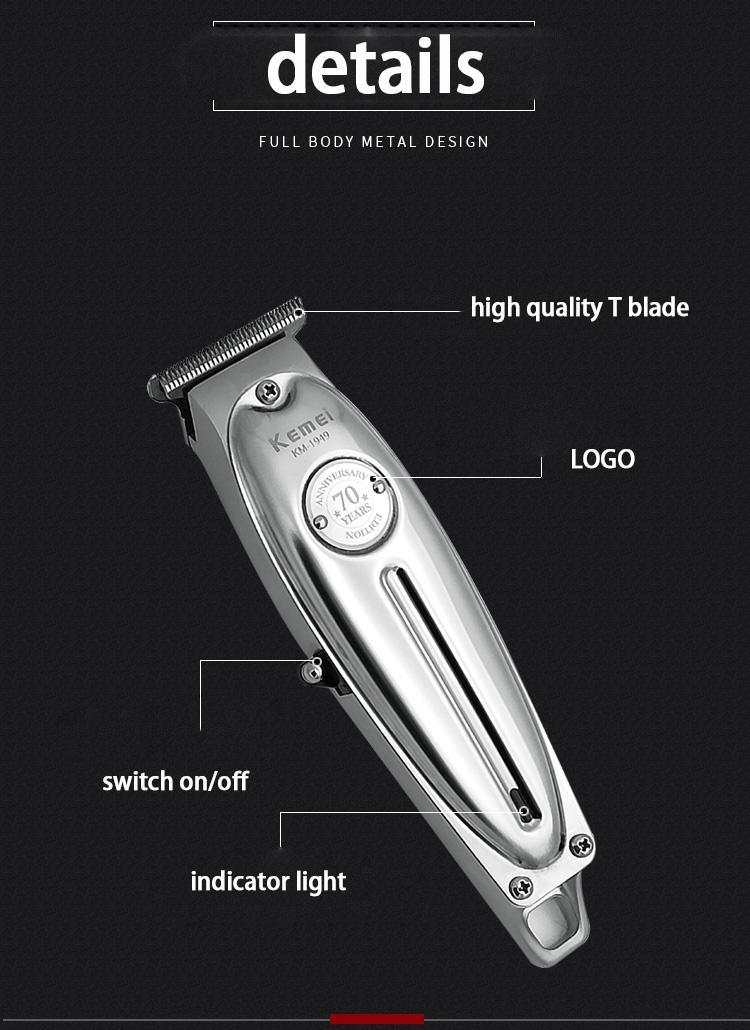 Kemei 1949 professionale del tagliatore di capelli Uomini ricaricabile dei capelli di precisione trimmer Haircut macchina Saloon Strumenti Kemei 1949 iKdvT gpackbag