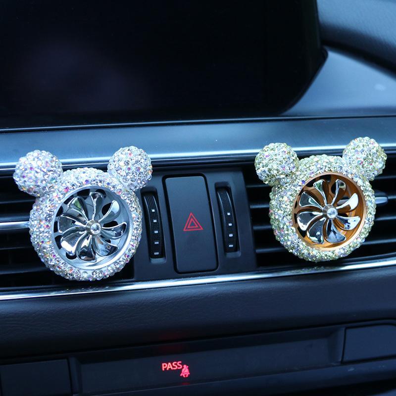 العالمي سيارة العطور كليب سيارة الهواء المعطر سيارة مرصعة الهواء منفذ الهواء الماس المرصود إزالة رائحة إزالة الزينة مناسبة للمرأة