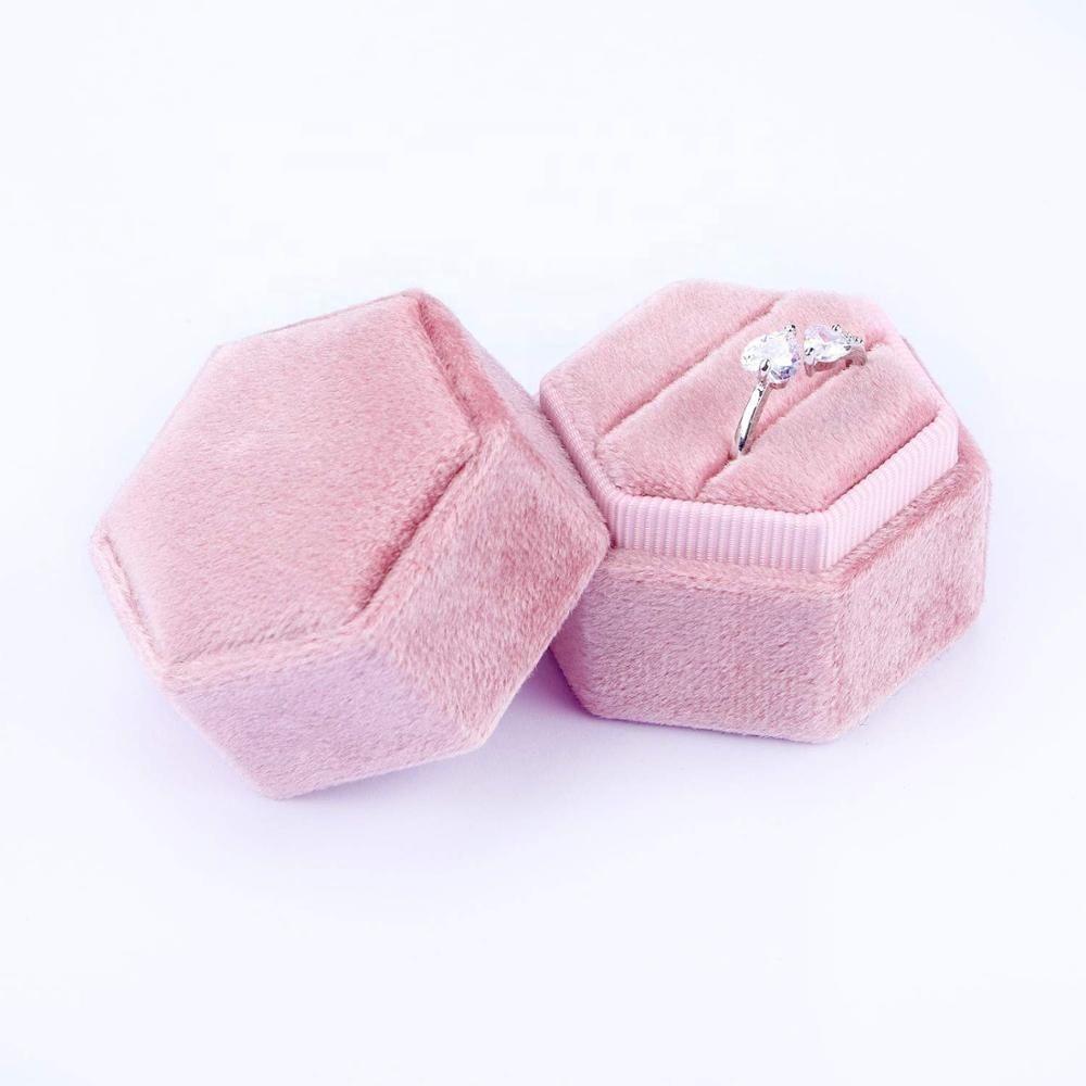 العرف الأكثر مبيعا الوردي المخملية مربع حلقة ورقة مربع الجملة مربع مجوهرات