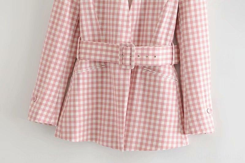 vestito cintura dimagrante del 2020 Primavera Plaid donne coatcoat YY13-31842 2020 cintura dimagrante vestito coatcoat YY13-31842 donne della molla Plaid