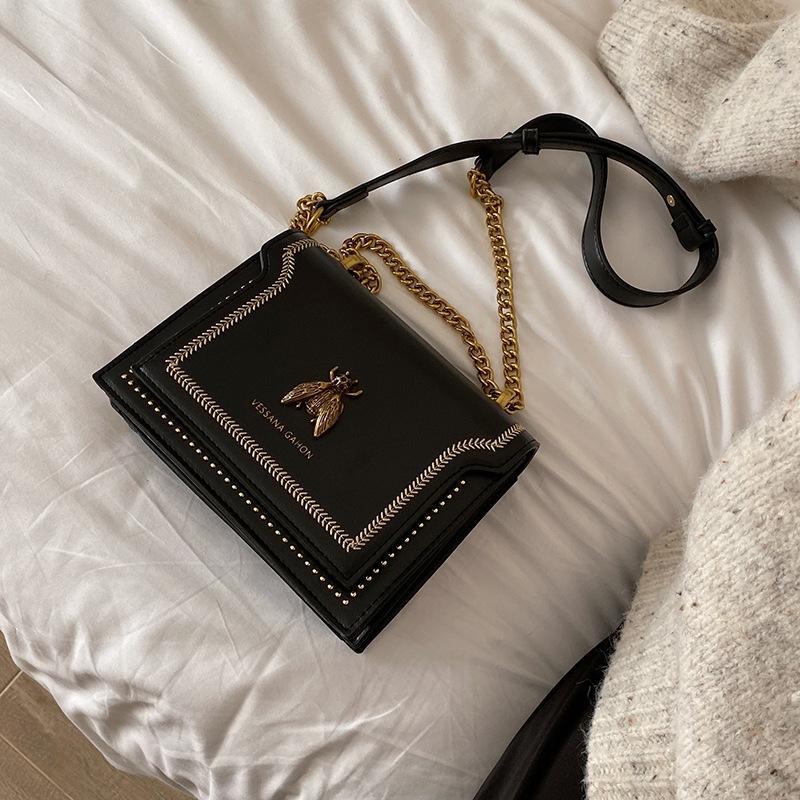Women's 2020 new fashion small ck square bee simple crossbody bagshoulder Bag shoulder bagchain bag