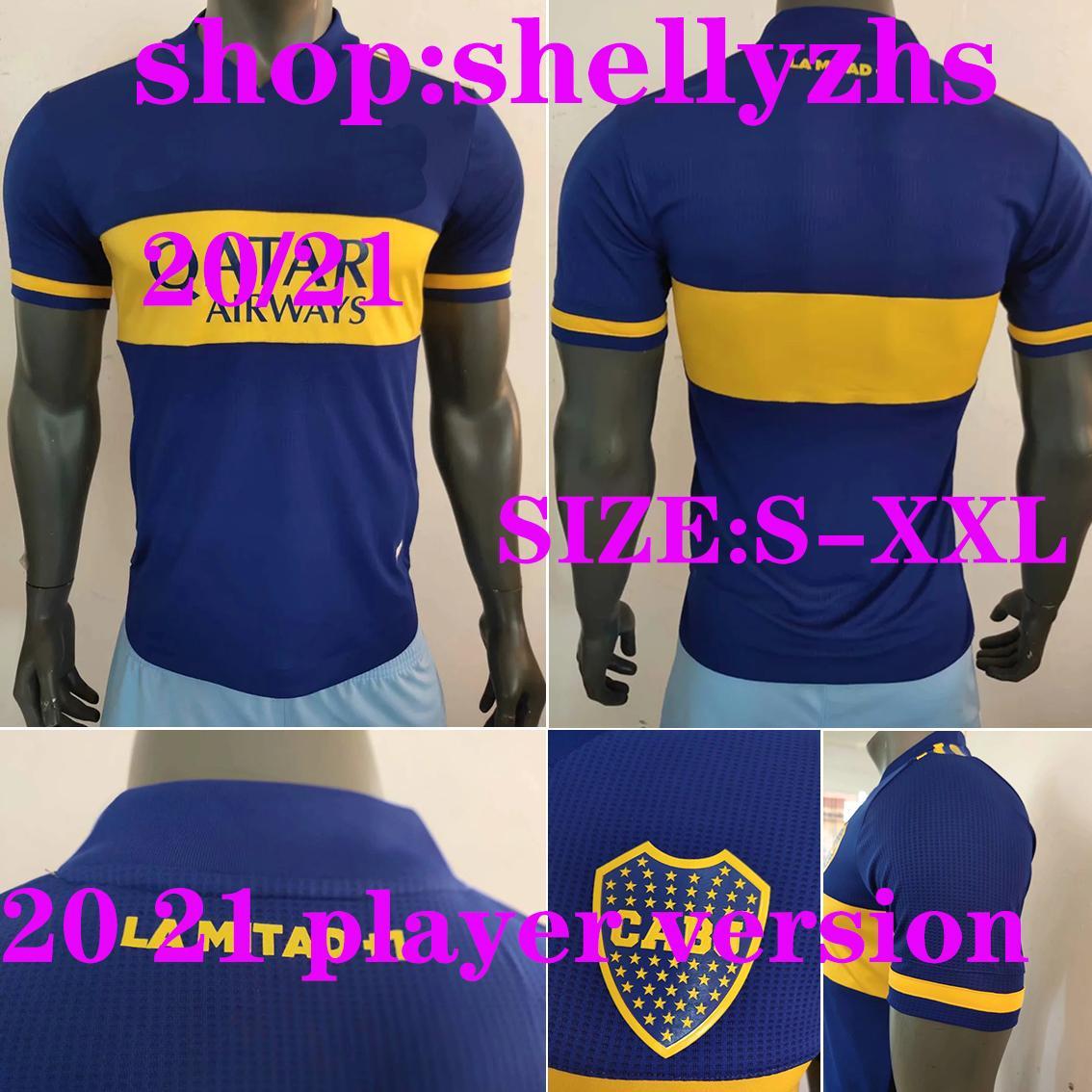 Версия для игрока 20 21 Boca Juniors maillots де нога футбола Джерси мужчина Salvio Тевеса DE ROSSI 2020 2020 дома вдали равномерной футбол рубашки игрока