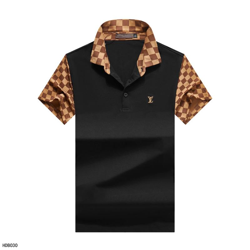 Moda polos de diseño de los hombres de la camiseta ocasional bordado medusa de algodón camisa de polo de la calle principal polo de cuello de lujo libre del envío