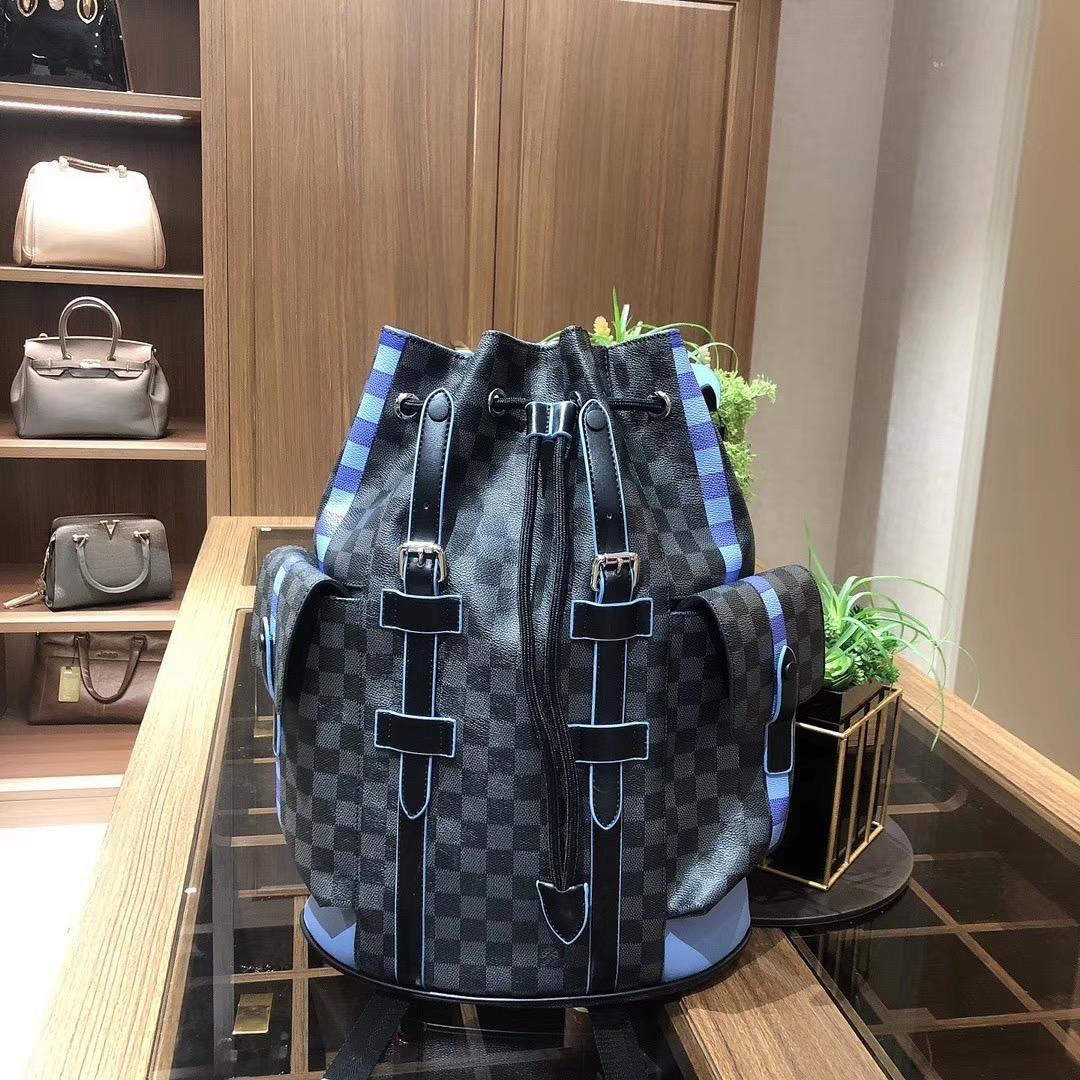 bolso de las compras a estrenar genuino del estilo 2020 NewSpring / verano de la decoración de las mujeres de gran capacidad de cadena simple del mensajero bagL75