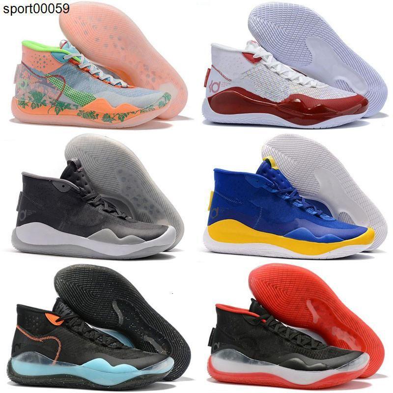 2020 New KD 12 12s Herren Kinder-Basketball-Schuhe KD12 90s Kid The Day One Krieger Startseite Oreo Mens Trainer Sport-Turnschuhe