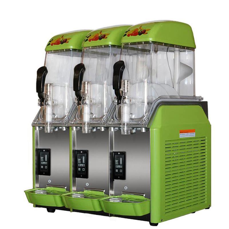110V 220V Electric three cylinder Snow melting making machine Snow mud making machine commerical slush machine for sale