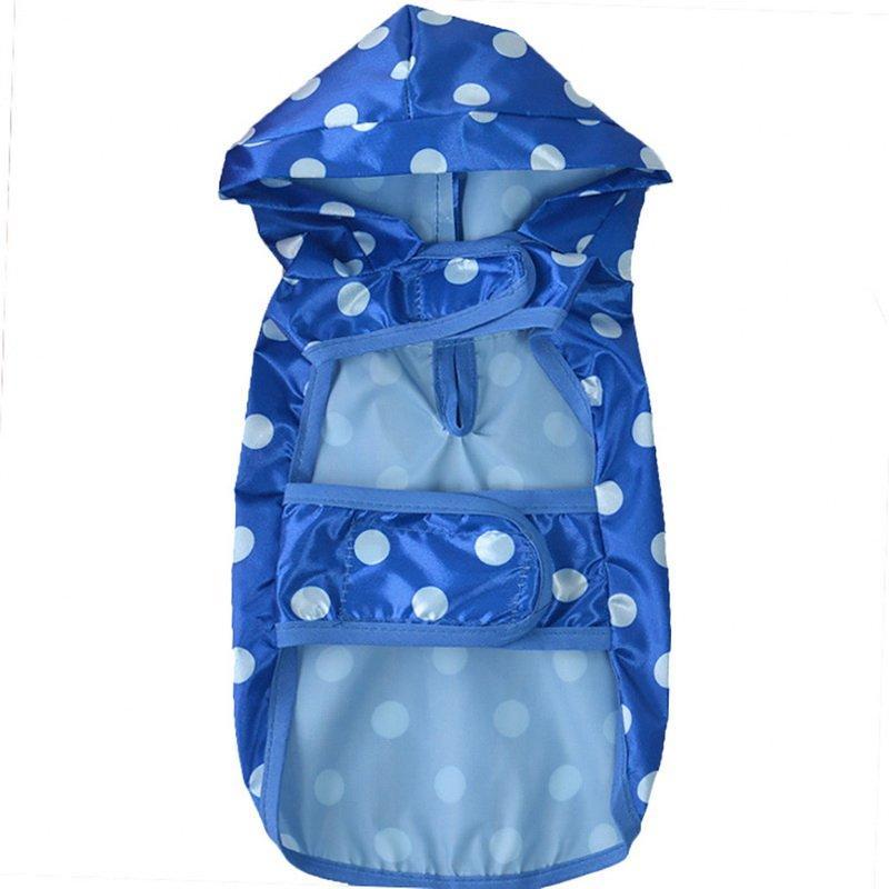 Pet azul manchada Capa de Lluvia Talla Xsmall