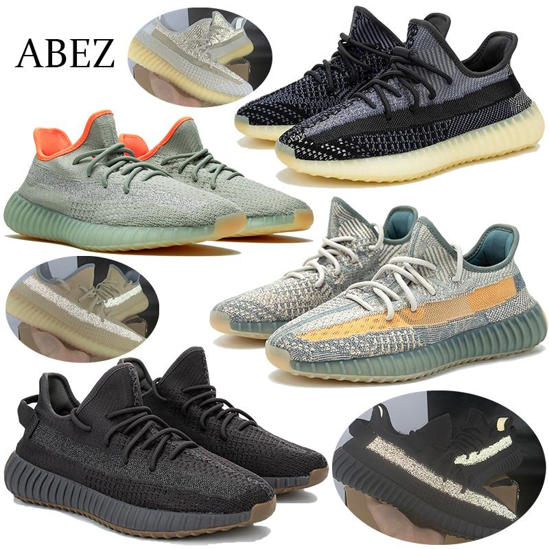 2020 reflectante Kanye West zapatillas zapatillas de deporte zapatos ABEZ Cinder lino Yeshaya Negro baloncesto estático Tierra Asriel Israfil Hombres Mujeres