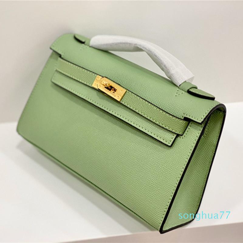 2020 mejores nuevas mujeres vendedor o invierno Becerro material de 22cm bolsa de hombro pequeña bolsa cuadrada del color del golpe mini bolso