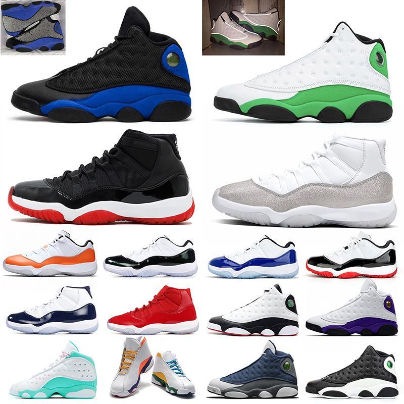 Nike Ar Jordânia Retro 11s Tênis De Basquete 11 Snakeskin Concord 45 Cap e Vestido Dos Homens Formadores Sports Sneakers 7-13