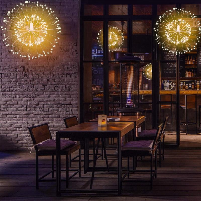 Blumenstraußform LED-String-Leuchten 150LED Batteriebetrieben 8 Modi Kupferdraht-String-Licht-Feuerwerksbeleuchtung mit Fernbedienung für Weihnachten
