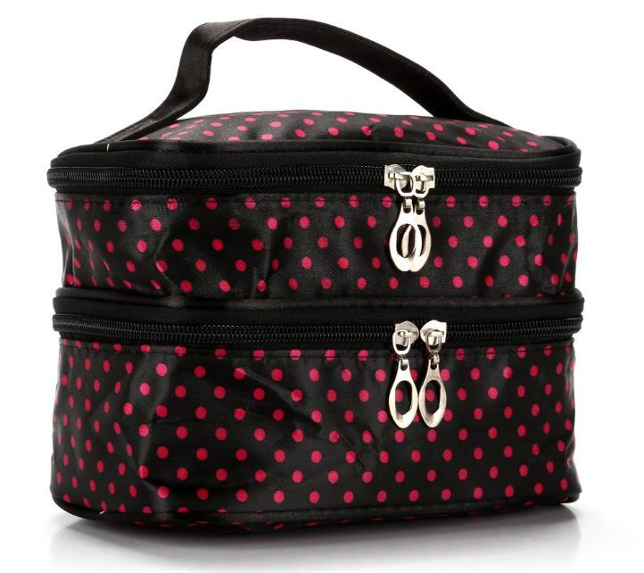 Hot Designer-Handtasche 2020 Fashion Explosion Modell Wavelet Double Layer kleiner Punkt Cosmetic Bag