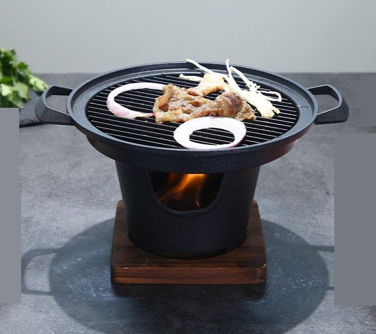 Portatile barbecue grill domestica singolo uomo Barbecue portatile stufa coreano barbecue piatto cucina antiaderente barbecue hotel Teppanyaki 080-2
