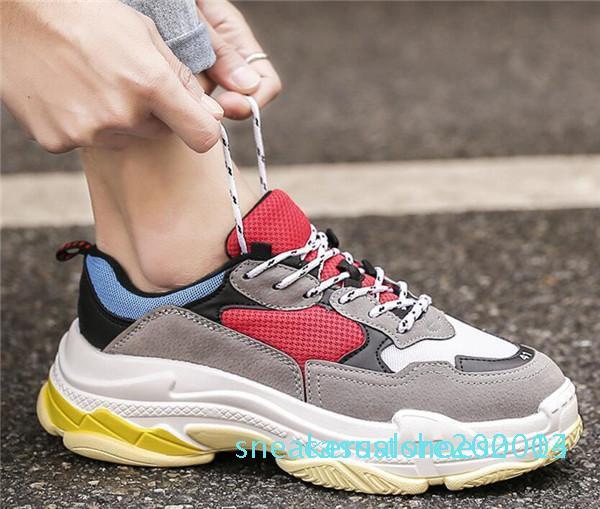 Новый дешевый 2019 Прибытие Sneaker Сочетание Подошвы женщин людей ботинки платформы Top Quality Sports Повседневный замша обуви хип-хоп кроссовки C13
