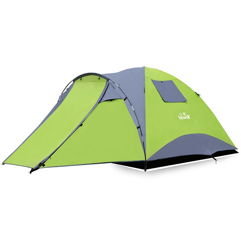 Tourist Tent 3-4 Person Double Layer One Hall&one Bedroom Hiking Camping Family Tent Roof Car Self Driving Park Beach