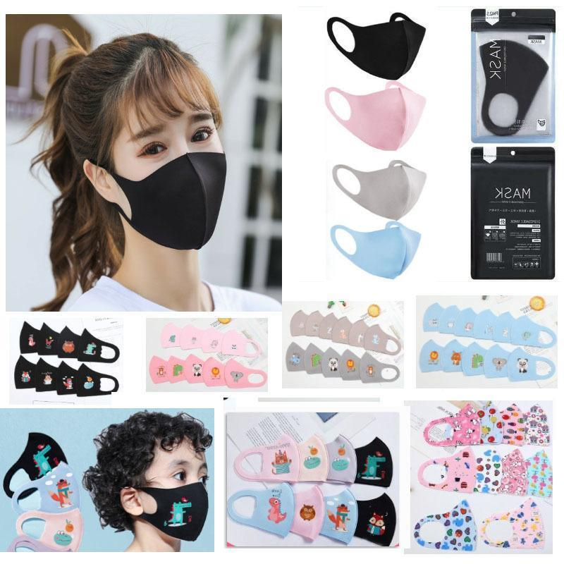 Enfants M Masque anti-poussière adulte bouche couverture PM2,5 Masque anti-poussière lavable anti-bactérien Masques de protection éponge