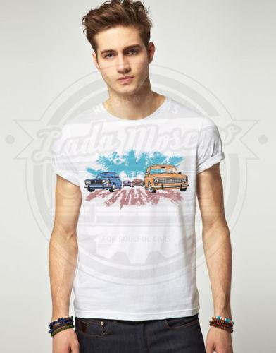 New Summer Fashion Men Tee Wonderful LADA T-Shirt Soviet USSR Russia Short-Sleeved Cotton T-Shirt