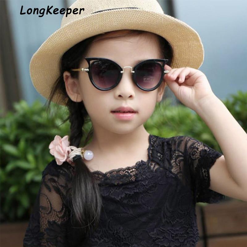 2020 mignon nouveau enfant lunee de lunette chat soleil enfants lunettes garçons UV400 oeil bébé lunettes lunettes de soleil lentilles filles enfants nuances lunettes shauw