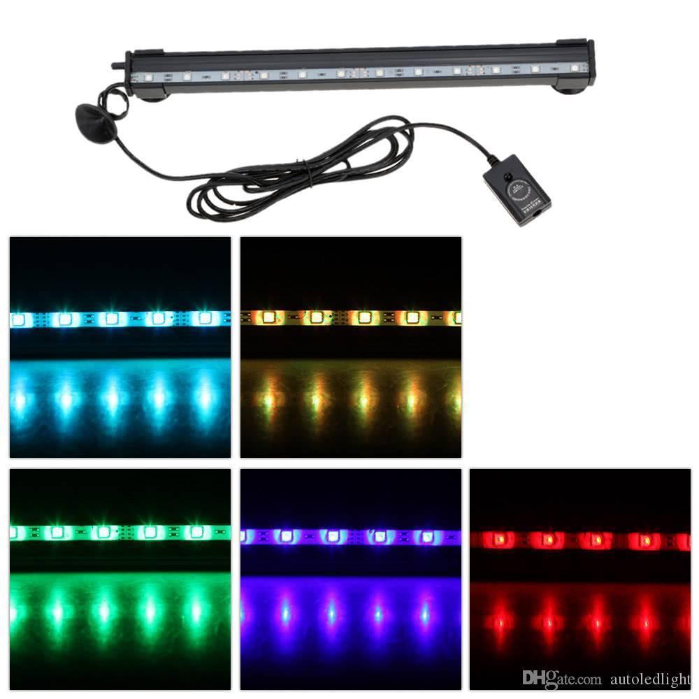 Indoor Aquarium Lights 12 LEDs Bubble Aquarium Submersible Remote Control Fish Tank LED Light Bar