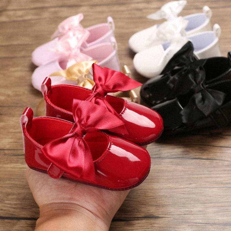 Zapatos Zapatos de las muchachas Flores del baile de Gril del bebé arco otoño del resorte de los niños Calzado primeros caminante Kesl #