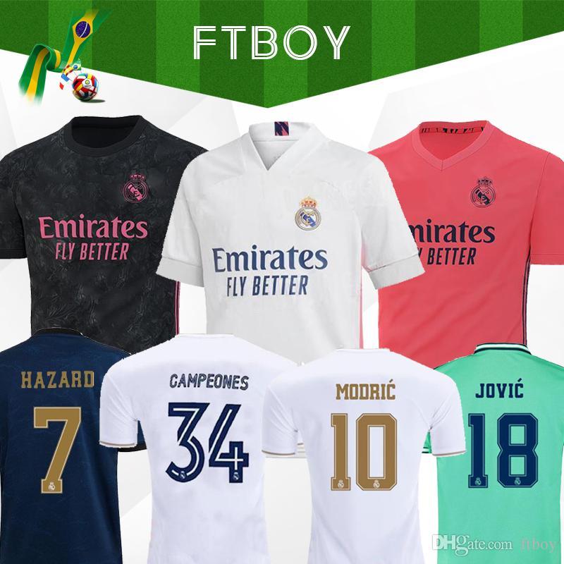 Real madrid 2020 jerseys PELIGRO Isco REINIEsoccer Jersey SERGIO RAMOS MODRIC BALE camiseta de fútbol uniforma 20 21 Camisetas de deportes de EA