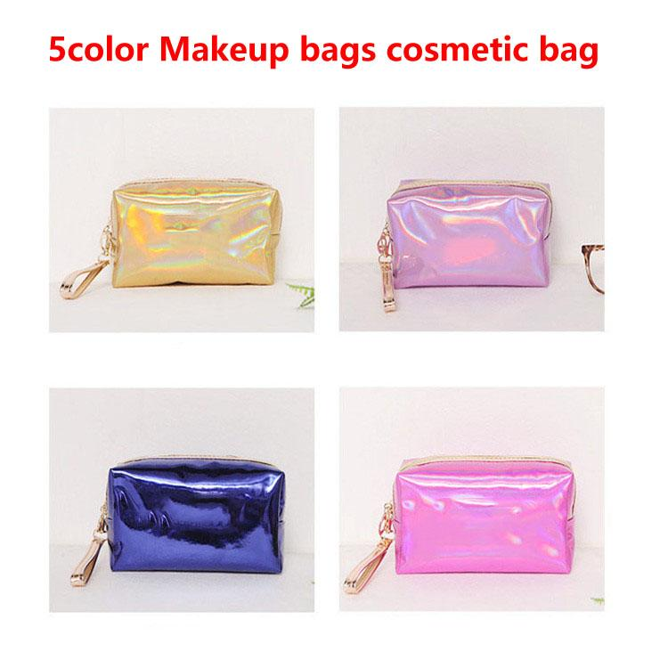 Maquiagem sacos saco de cosmética saco da letra Holograma Laser Cosmetic Maquiagem sacos saco de grande capacidade de armazenamento de lavagem impermeável tolitery HOT