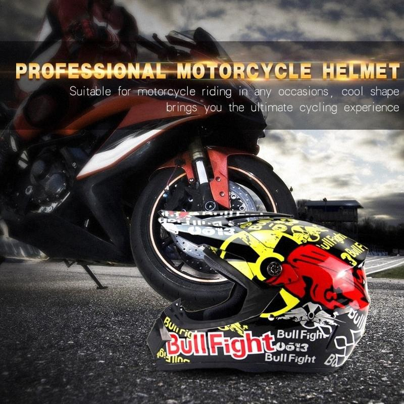 Hot nuova moto per adulti Motocross Off Road corre casco Caschi XL urJR #