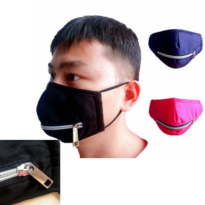 Moda Fermuar Yüz Maskesi Kişilik Toz geçirmez Koruyucu Maske Yaz Doğa Sporları Yeniden kullanılabilir Fermuar Pamuk Bisiklet Maskeler IIA318