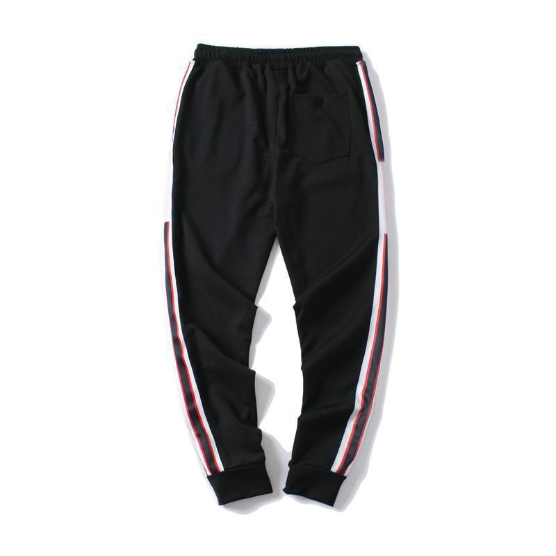 뜨거운 판매 스웨트 팬츠 망가거 바지 브랜드 Drawstring 스포츠 바지 높은 패션 3 색 측면 스트라이프 디자이너 조깅
