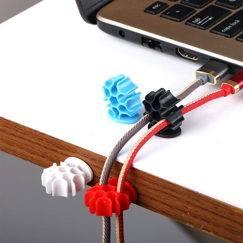 Cable Organizer USB Cable Winder Management Clips Cable Holder 3M Glue For Charging Cord Mouse Headphone Earphone