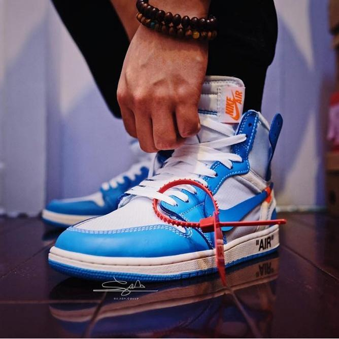 Off Whte x Luis Vutton x Sapatos Chicago UNC Basketball NKE Air Jordn 1 Retro Designers Sneakers mulheres dos homens Motocycle Sports ShoesDGH15