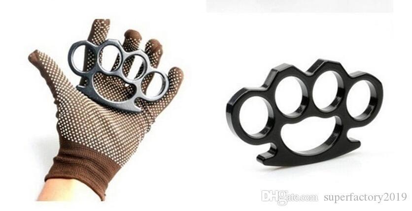 Новый Позолоченная сталь латунь Knuckle Duster Цвет Черный Покрытие Silver Ручной инструмент сцепления высокого качества 2019
