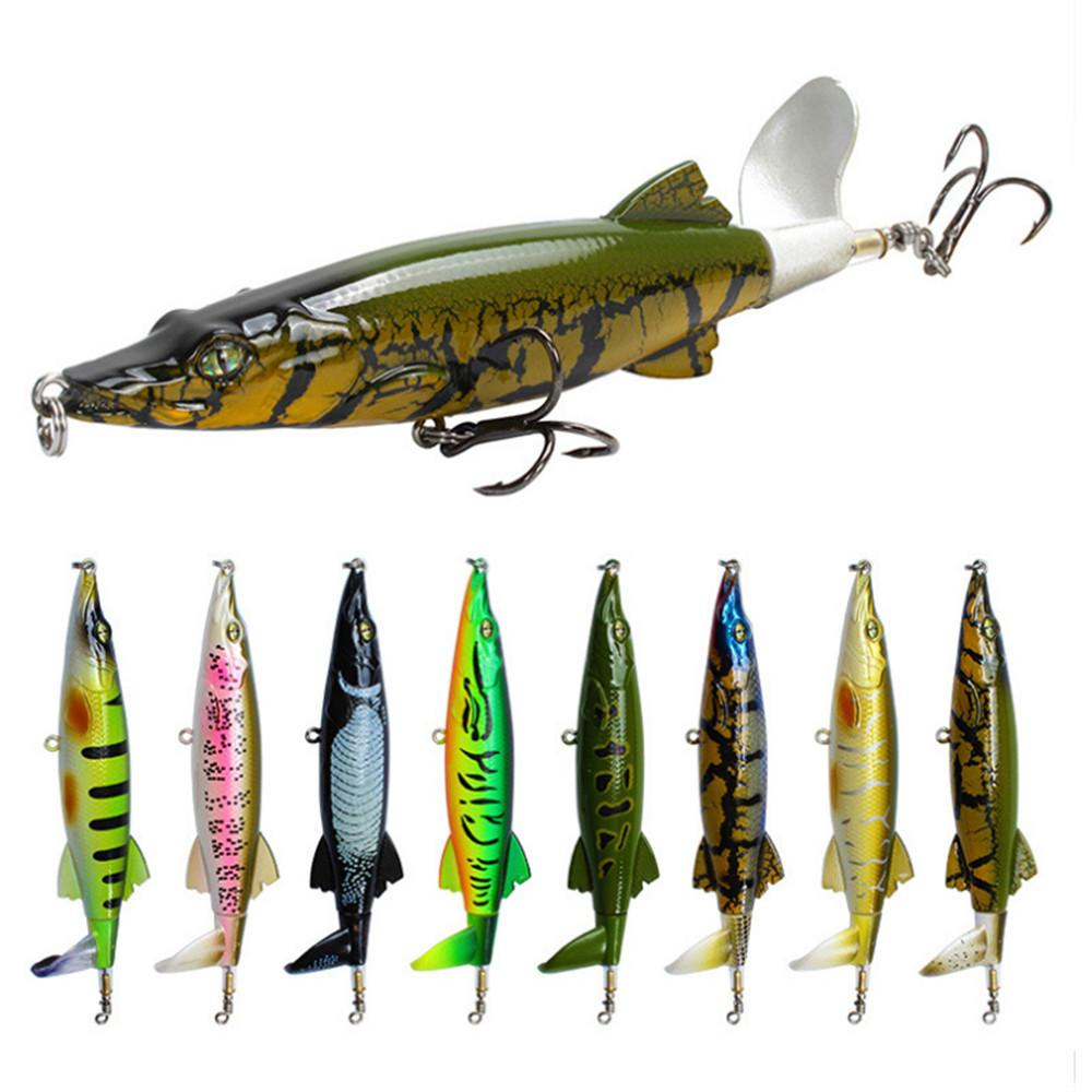 Señuelo 30pcs Whopper Plopper 13cm 16g Topwa Pesca realista cebo duro Wobbler Popper giratoria cola Equipos de pesca Geer Pesca
