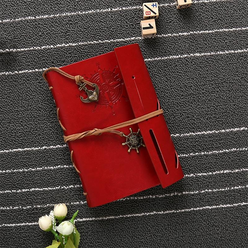Vintage Notebook Travel Diary Books Kraft Paper Journal Spiral Pirate Notepads Blank Notebooks Office School Student Stationery DBC DH1482